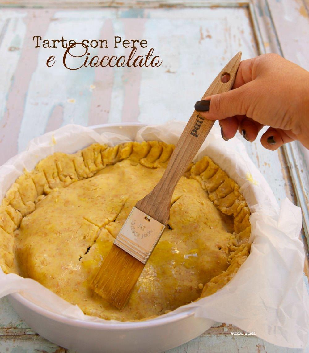 tarte con pere e cioccolato