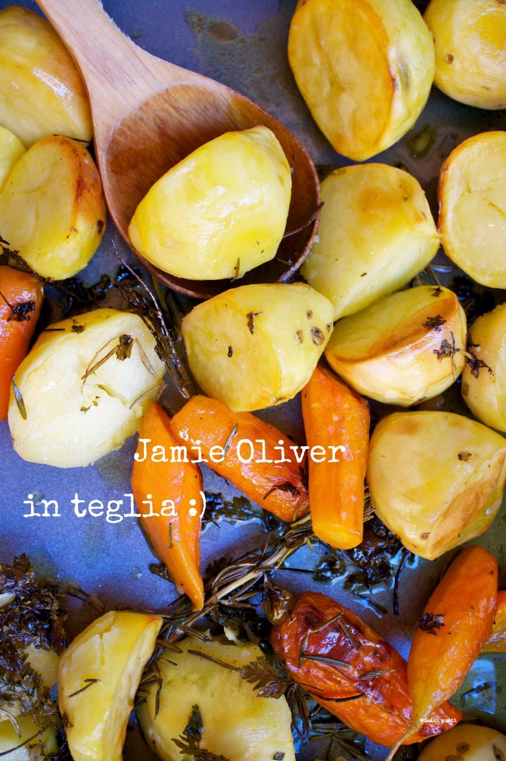 patate e carote al forno di Jamie Oliver